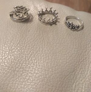 3 I'm the Queen Sterling Silver Rings